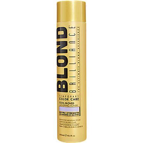 blonde brilliance toner platinum blond brilliance temporary color care lathering toner