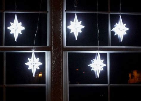 led light strand stars christmas window decor