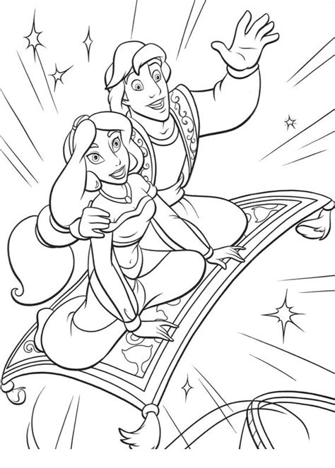 aladdin and jasmine coloring pages best gift ideas blog