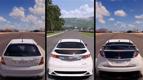 2007 honda civic type forza horizon 3 honda civic type r 2016 vs type r 2007