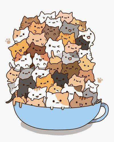 imagenes gatos kawai m 225 s de 25 ideas incre 237 bles sobre gatos kawaii en pinterest