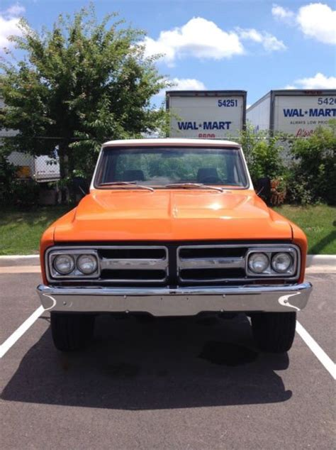 gmc 350 engine 1968 gmc shortbed 4x4 350 engine 5 speed new tires new