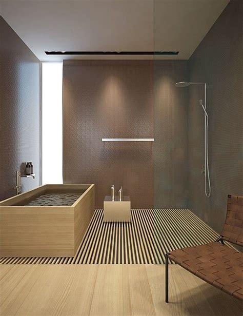 bagno giapponese la doccia aperta per un bagno in stile giapponese