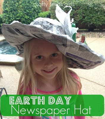 How To Make A Sun Hat Out Of Paper - crafty crafty how to earth day newspaper hat