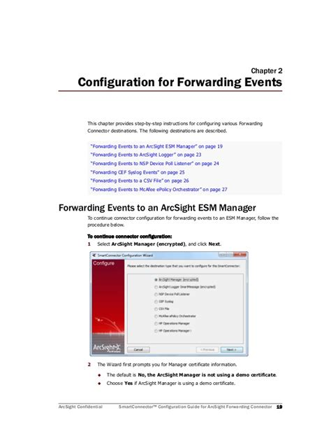 forwarding configuration arcsight forwarding connector configuration guide