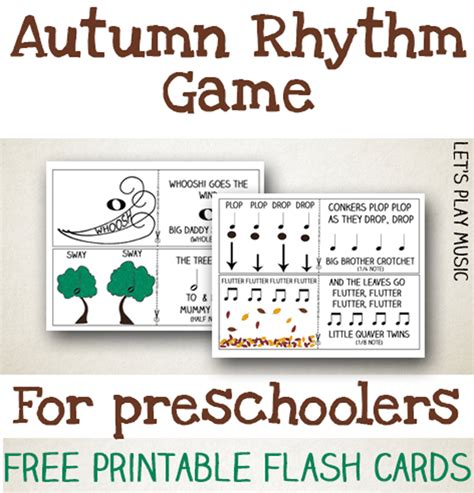 printable games for music autumn rhythm game for preschoolers let s play music