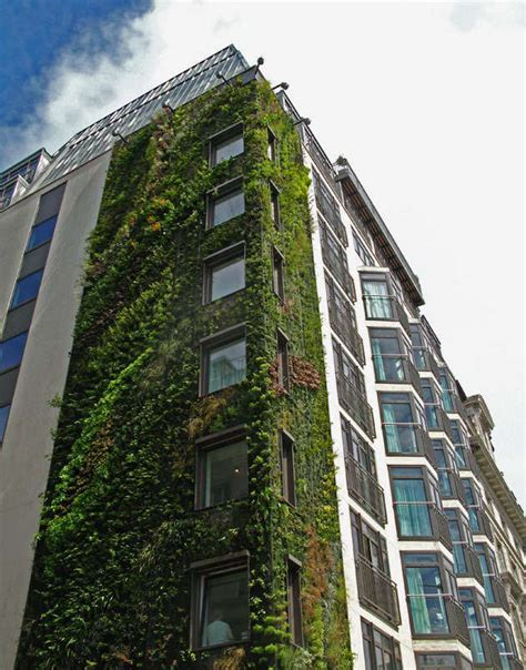 great world structures  green facades  vertical gardens