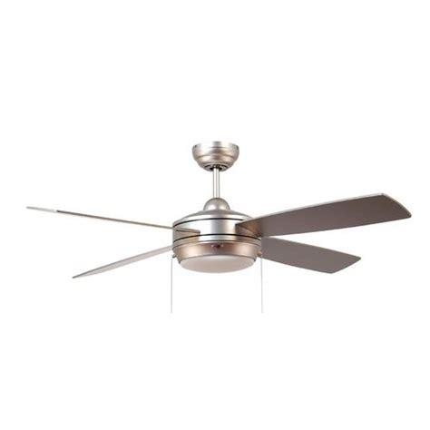 Modern Ceiling Fan With Light With White Glass In Brushed White Modern Ceiling Fan