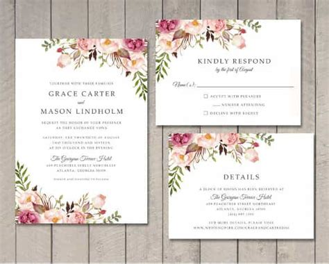 74 Wedding Invitation Templates Psd Ai Free Floral Wedding Invitation Template