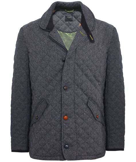 Quilted Wool Coat by Esquire Grey Quilted Wool Jacket Available At Jules B
