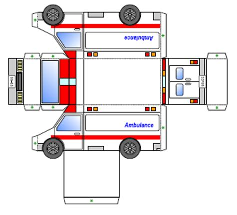 Ambulance Paper Craft paper ambulance pictures to pin on pinsdaddy