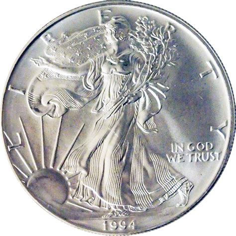 1 Oz Silver Dollar Worth - 1994 american silver eagle dollar bu 1oz silver