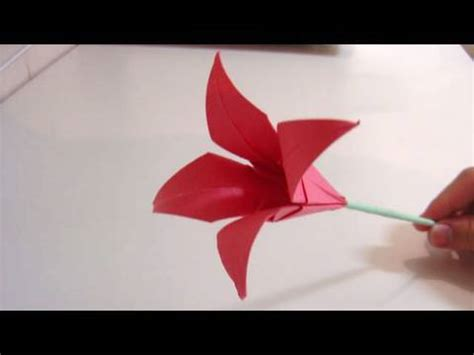 Origami Flower 100th - papercraft how to make 3d origami small basket with flower
