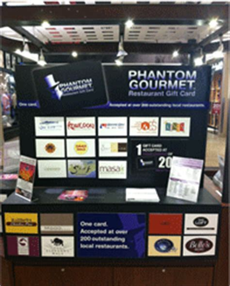 Mall Kiosk That Buys Gift Cards - seasonal locations the phantom gourmet restaurant gift card