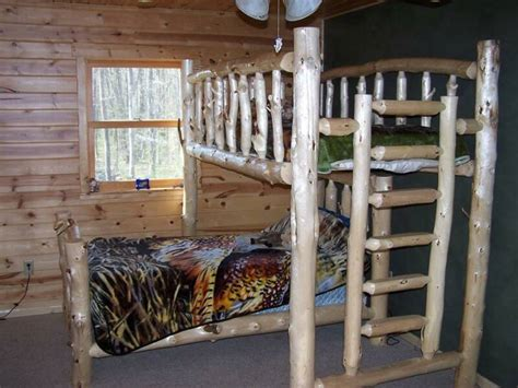 cedar log bunk bed by robert r norman and woodzy org pdf log loft bed plans free