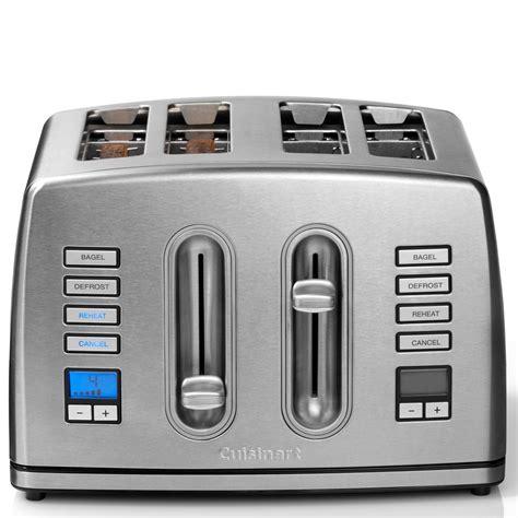 Brushed Stainless Steel Toaster 2 Slice Cuisinart Cpt445u 4 Slice Digital Toaster Homeware