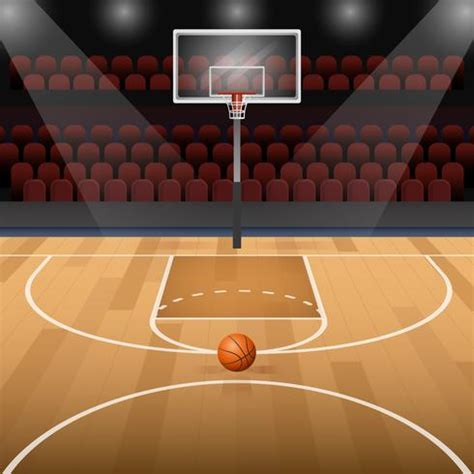 basketball court clipart basketball court with basketball vector illustration