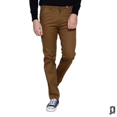 Oliveinch Chino Brown slimfit chino oliveinch elevenia