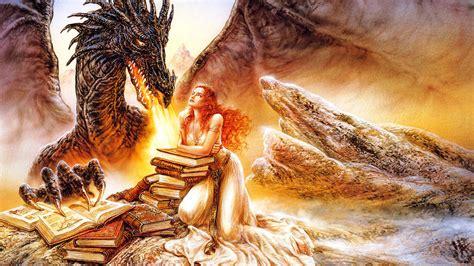 luis royo dragon  girl princess books desktop hd