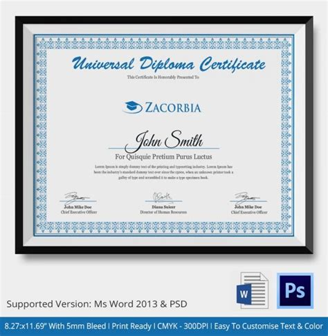 landscape certificate templates 25 best ideas about plantilla diploma word on