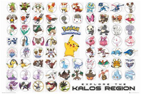 pokemon kalos region poster sold at europosters