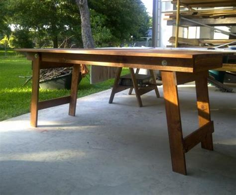 diy foldable table legs free woodworking plans to build a fabulous folding table the design confidential