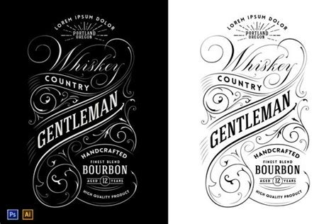 liquor label template whiskey label logo logos vintage and graphics