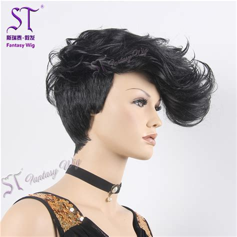 synthetic mannequins wigs male female black curly synthetic mannequin wig gf w1796 2