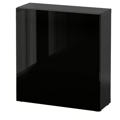 besta 60x20x64 best 197 shelf unit with door black brown selsviken high