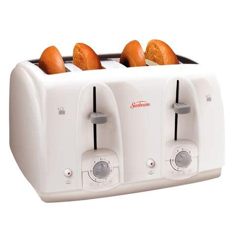 White Toaster Sunbeam 174 4 Slice White Toaster
