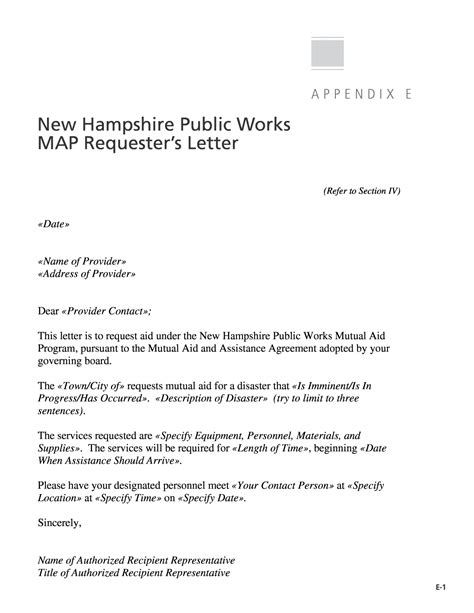 cancellation letter of aid appendix e new hshire works map requester s