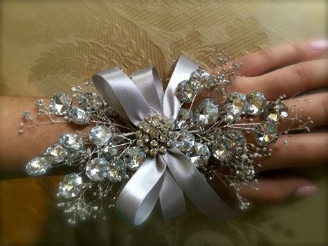 corsages for prom 2015 prom wrist corsage silver wrist corsage for by