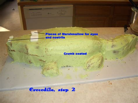 making a crocodile cake how to cakecentral com
