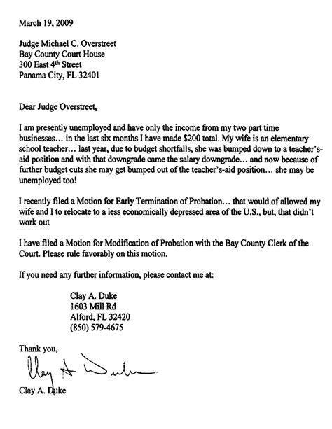 Judicial Release Letter To Judge Clay Duke Docs The Gun