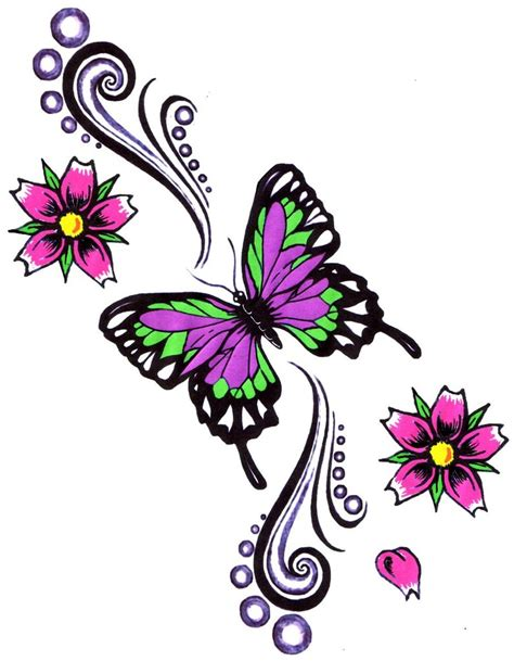 freesia flower tattoo designs butterfly and flowers butterfly flowers