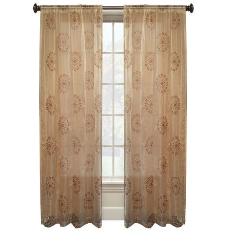Ivory Sheer Curtains Suzani 84 In L Ivory Sheer Rod Pocket Curtain Wpn7701 The Home Depot