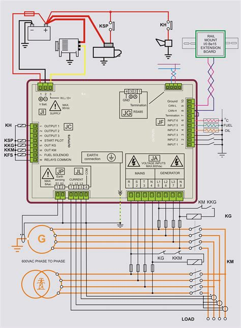 wiring diagram panel ats dan amf wiring diagram