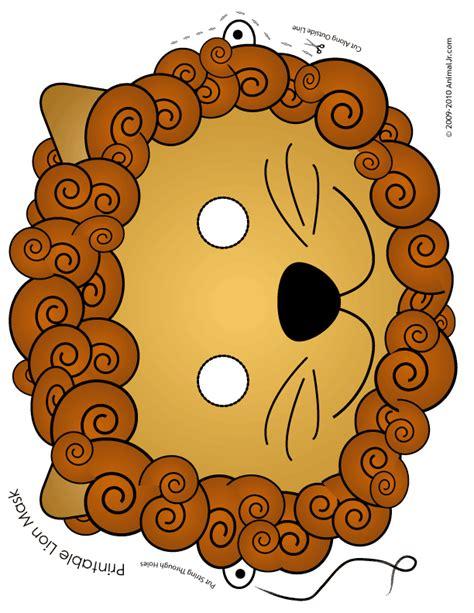 printable animal masks free printable lion mask woo jr kids activities