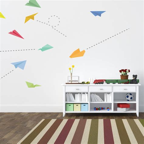 plane wall stickers paper plane wall stickers by spin collective notonthehighstreet