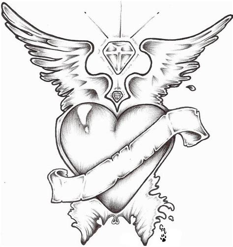 heart design by moonwolfangel on deviantart