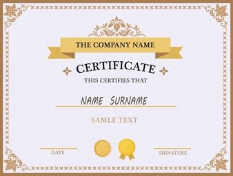 name a certificate template certificate of completion template vector free