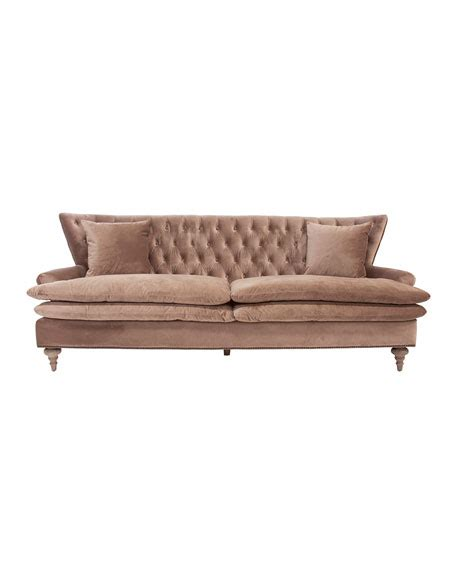 dusk tufted sofa neiman chevy velvet tufted sofa