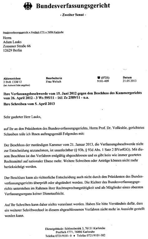 Offizieller Brief Datum Offener Brief An Den Pr 196 Sidenten Des Bundesverfassungsgerichtes Sofort Pers 214 Nlich