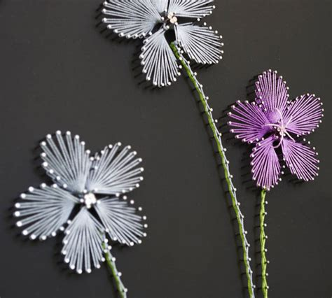 String Flower Patterns - string pattern quot three flowers quot string diy