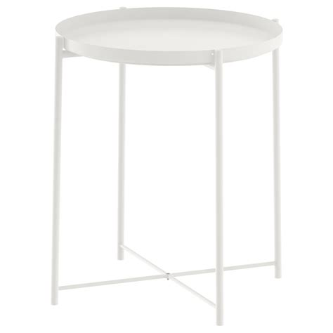 Ikea White Side Table Gladom Tray Table White 45x53 Cm Ikea