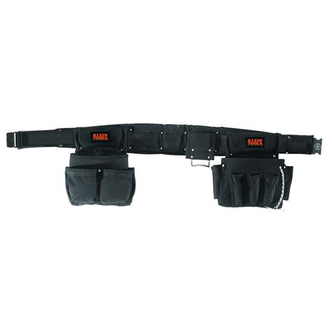 klein tools black electrician s tool belt fits sizes
