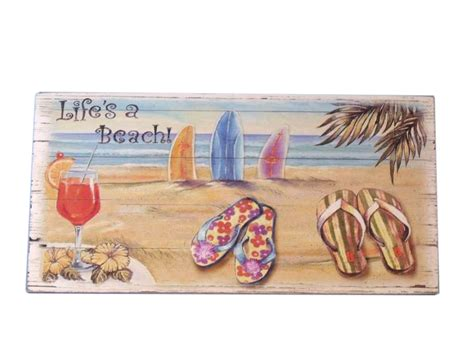 beach signs home decor buy wooden sandal life s a beach sign 16 inch wholesale model ship dec