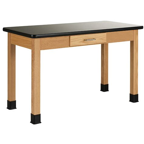 24 X 36 Table by Wood Laboratory Table With Chemguard Laminate Top 36 X 24