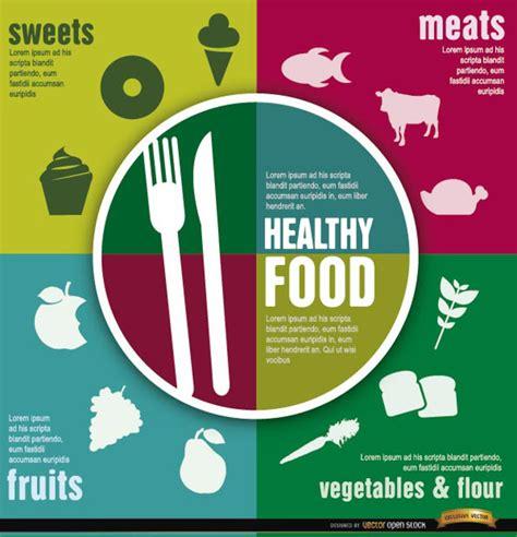 healthy food concept vector free download