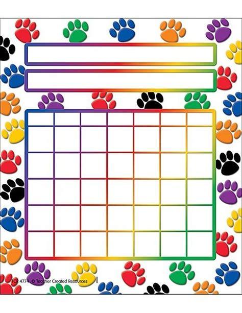 free printable individual incentive charts paw prints incentive chart pepper bella reba pinterest